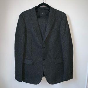 UNIQLO +J wool pinstripe 2 piece suit